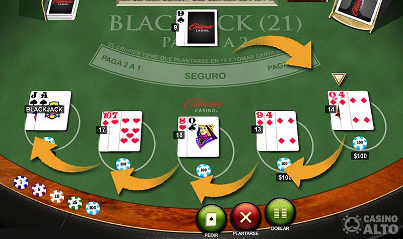 blackjack orden de juego