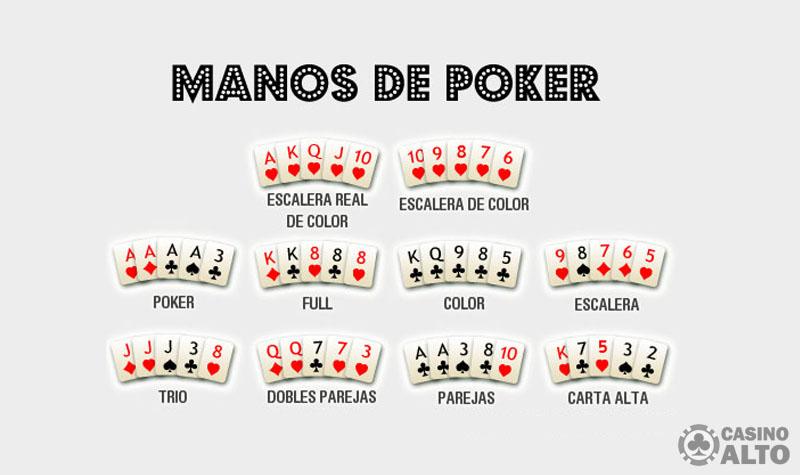valor manos texas holdem poker