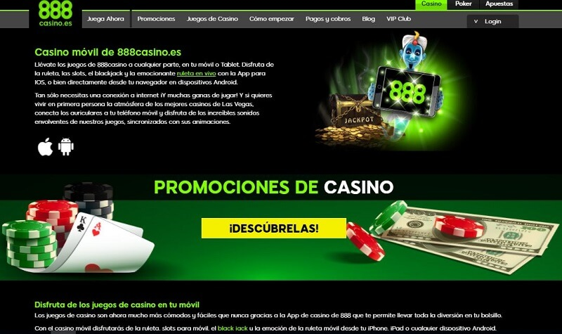 888 casino app movil