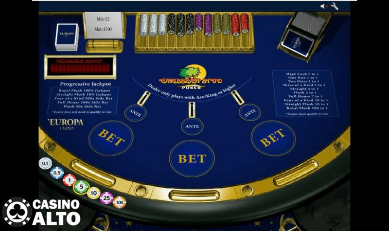 poker caribbean stud reglas