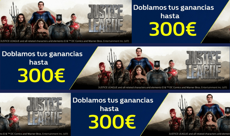 william hill justice league 300 euros