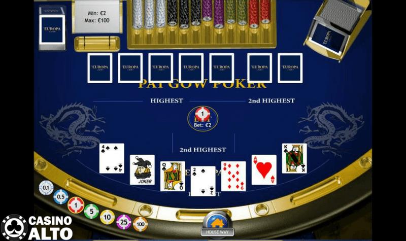 pai gow poker reglas como jugar