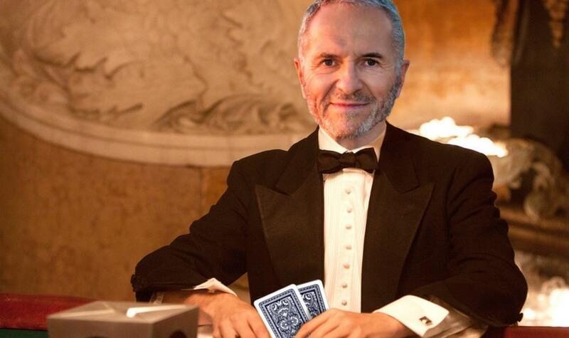 Edward Thorp jugando en el casino