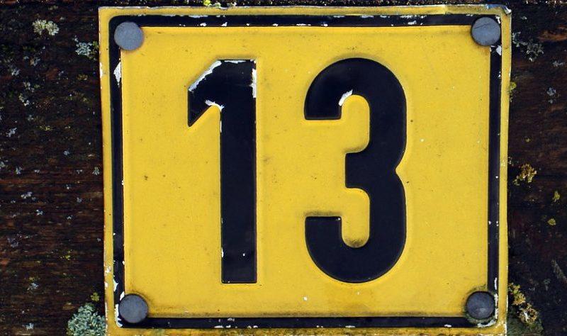 numero 13 desafortunado