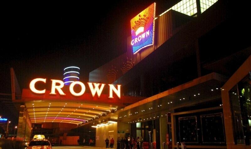 Fachada del Crown Casino