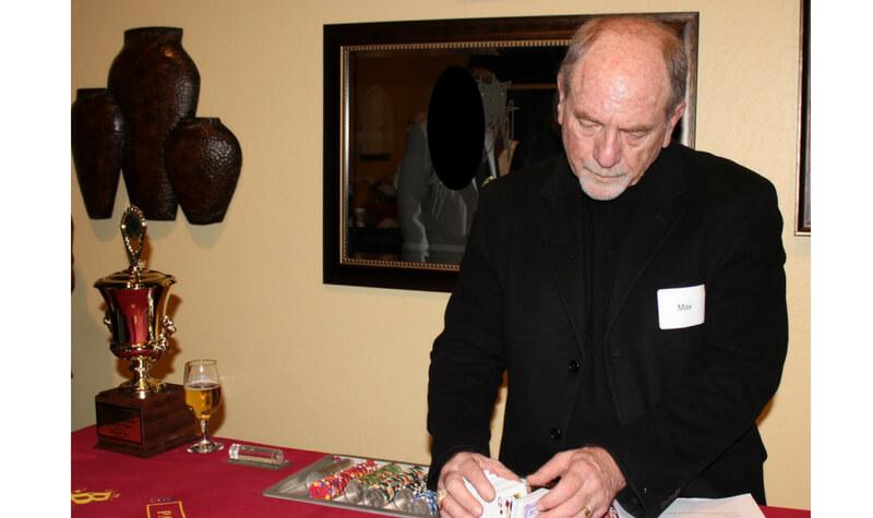 Max Rubin jugando al blackjack