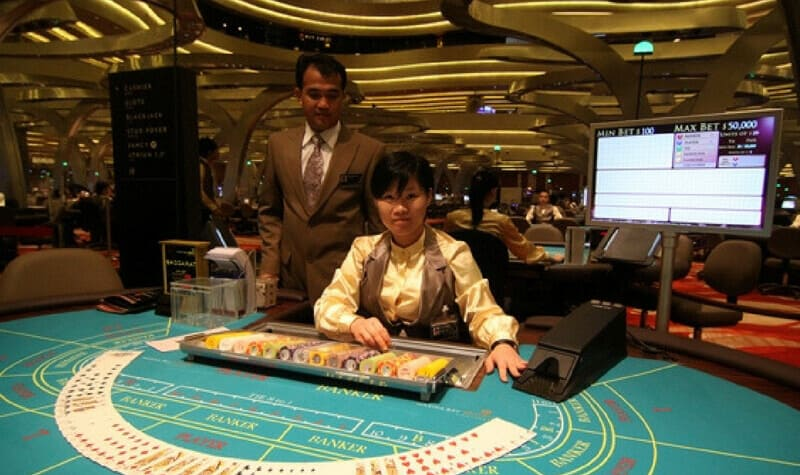 Mesa del Marina Bay Casino