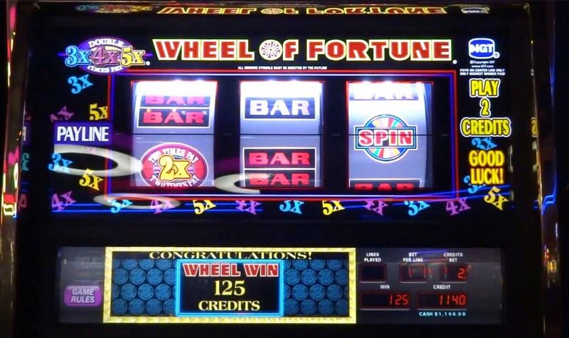 Wheel of fortune slot machine progressive jackpot